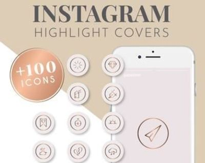 100+ Pink and Rose Gold Instagram Highlight Covers | Instagram Story Highlight Icons