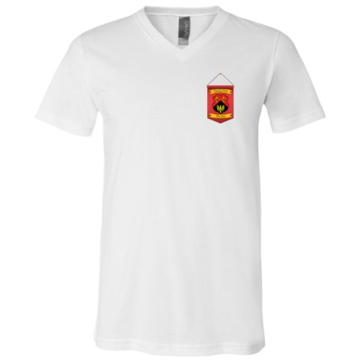 Clan Bella + Canvas Unisex Jersey SS V-Neck T-Shirt $19.50