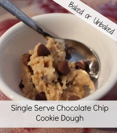 Try our single serve chocolate chip cookie dough recipe!