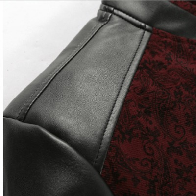 PU Leather Patchwork Men's Jackets 6XL Autumn Fashion Coats Men Outerwear Stand Collar Male Clothing Slim Fit $69.92 zhif.myshopify.com