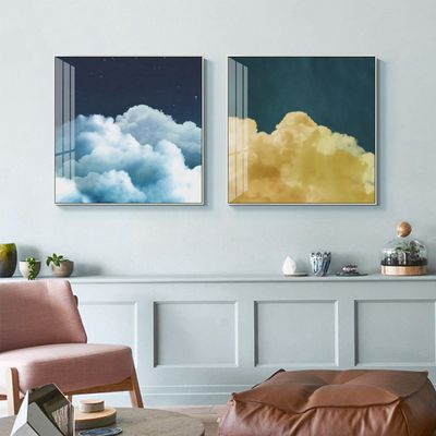 Set of 3 wall art Cloud painting sky paintings on canvas pink art Framed wall art Ymipainting Original wall Pictures Cuadros abstractos $163.53