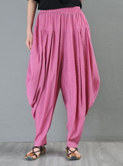 Linen harem pants, Black harem pants women, Drop crotch Pants, Elephant pants, Kappa pants, Lerp pants, Aladdin pants, palazzo pants