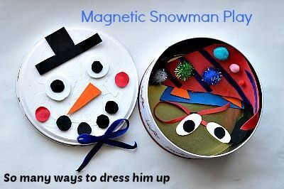 So many ways to play with this fun, portable snowman play kit. View this kids activity at Blog Me Mom!