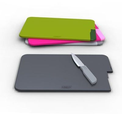 Slice and Store   Chopping board with incorporated knife by Joseph Joseph