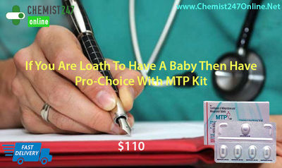 Aborting an unplanned early gestation of less than seven weeks at home is now possible with MTP Kit in a safe and easy process. Generic drugs are Mifepristone and misoprostol pills. Order MTP Kit online in USA from our pharmacy store - Chemist247Online - ...