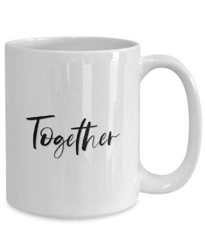 Better together White Ceramic Coffee Mug  Wedding Gift   Engagement Gift   Anniversary  Newly Weds  Couple  Bride  Groom  $15.95