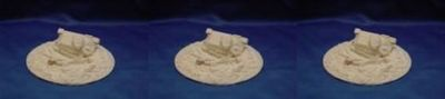 Terrain Flames of War Compatible 15mm Crater & Destroyed USSR T34 Tank Set of 3 Cast In Resin $29.99