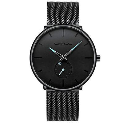 SIRIUS STAINLESS STEEL MESH QUARTZ WATCH $40.99