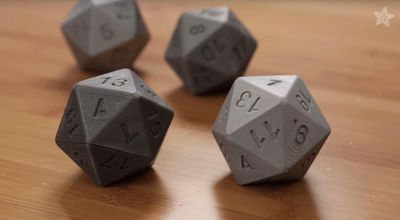 If you have a 3D printer and aren't afraid to get your hands dirty with electronics, you can build your own 3D-printed, 20-sided die that calls out your dice ro
