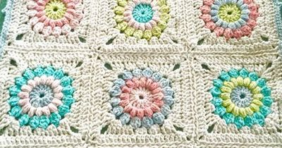 little woollie: Chunky Sunburst Granny Blanket �€�