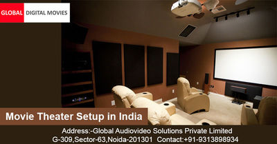 Global Digital Movies is providing Movies Theater Setup Services in India. We got success to develop a World Class Movie Theater Setup in India with the best lowest price. Your investment in GDM makes very economical in compared to other service provider....