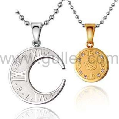 Personalized Interlocking Moon His and Hers Lovers Necklaces Set for 2 https://www.gullei.com/engravable-interlocking-moon-couple-necklace.html