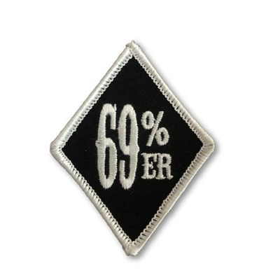 "THIGHBRUSH® ""69% ER DIAMOND COLLECTION"" - Diamond Patch - Black and White (Sew-on)"