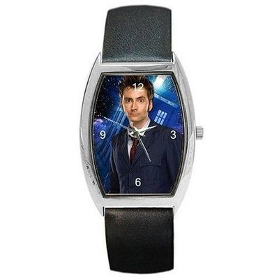 Dr Who , David Tennant the 10th Doctor on a Womens or Mans Barrel Watch with ... $32.99