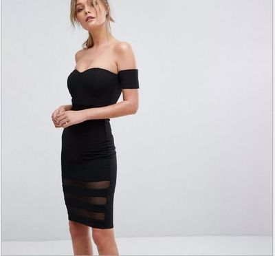 new sexy tight dress one word shoulder $134.32
