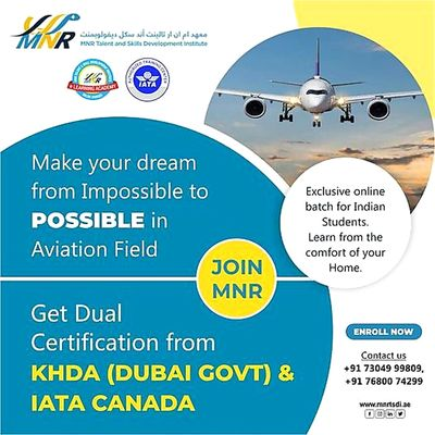 Air ticketing course in Andhrapradesh MNR Aviation is one of the best airport management course in Vijayawada. Also known for Institutes For Airline Ticketing, Airport Ground Staff Training, Hospitality Management with placements.  https://www.mnrtsdi.a...