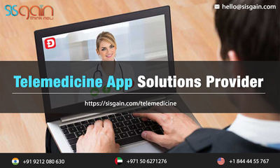 SISGAIN is constructing mobile apps for Telemedicine in USA which assign best cloud based Telemedicine software for multiple medical organizations. Our Telemedicine software developers & app designers are highly devotee on creating telemedicine softwa...