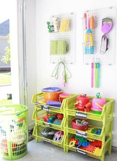 Keep the backyard clutter-free with these organization ideas for balls, bats, ride-on toys and more.