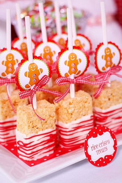 cute treats for kids at christmas or in different colors for other holidays