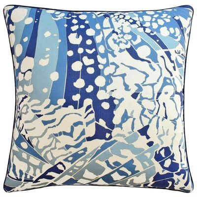 Puccini Navy Throw Pillow $282.00