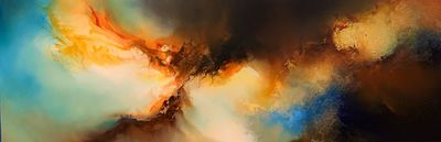Original abstract expressionism 'Premonition' by award-winning artist, Simon Kenny $7600.00