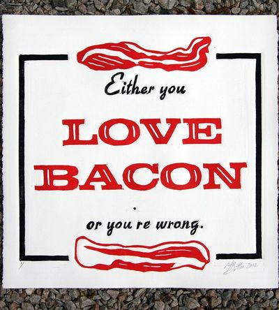Love Bacon Print | Art Prints | The Matt Butler | Scoutmob Shoppe | Product Detail