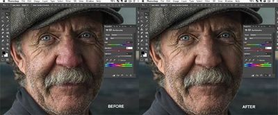 red skin tone correction in photoshop