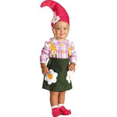 Gnome Girl Toddler Halloween Costume - totally want to do something like this for my daughter for halloween :) She probably wont keep the hat on though :(