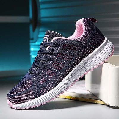 Sneakers Women Sport Shoes Outdoor Lace-Up Breathable Light Running Shoes Flat Walking Shoes Comfortable Athletic Trainers New $30.3920% off code: fairytale