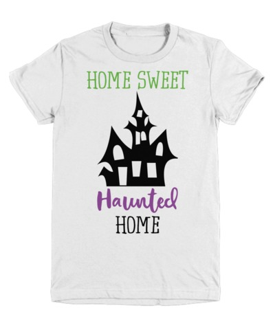Home Sweet Haunted Home Halloween Light Youth T-Shirt $22.95