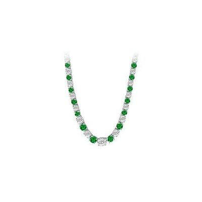 14K White Gold Emerald & Diamond Eternity Necklace 17.00 CT TGW for just $21373.35. @thelavenderlilac