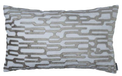 Christian White and Platinum Large Rectangle Pillow by Lili Alessandra $325.00