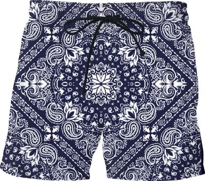 Blue Banda Swim Shorts $48.00