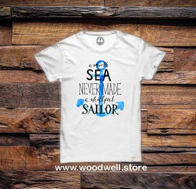 A Smooth Sea Never Made A Skilled Sailor T-Shirt, Nautical Lover Tee, Sailor Tee, Sailor Tee, Unisex 100% Cotton $24.99