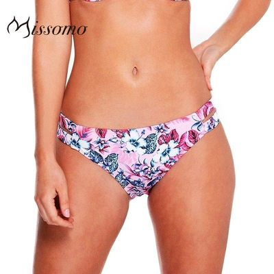 Vogue Sexy Printed Hollow Out Floral Vegetation Underpant Swimsuit Bikini - Bonny YZOZO Boutique Store