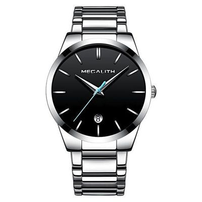 MEGALITH WALDER BRUSHED STAINLESS STEEL QUARTZ WATCH FOR MEN $44.99