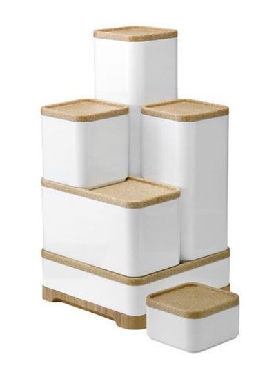 Exceptionnel These Modern, White Plastic Storage Boxes Come In Multiple Sizes And Can Be  Stacked To