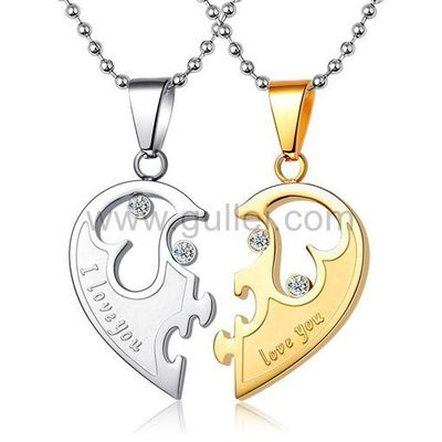 Engraved Half Heart His and Hers Necklaces Set for Two https://www.gullei.com/customized-love-name-inscribed-his-and-hers-necklaces-set-for-two.html