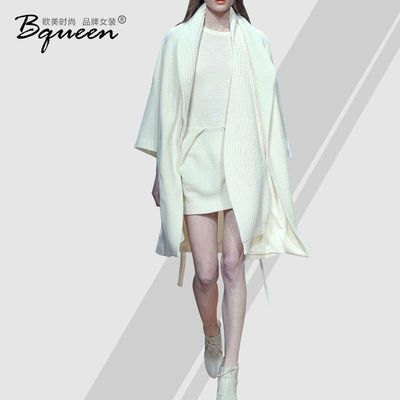 2017 new autumn and winter fashion collars loose long sleeve solid color long wool coat women's coat - Bonny YZOZO Boutique Store
