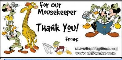 Create your own Mousekeeping Tip Envelopes!