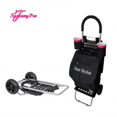 Makeup Artist Equipment- Trolley Dolly & Makeup Bag: Organize your salon supplies easily and affordably with a Tuscany Pro Folding Trolley Dolly & Makeup Bag. Visit at: https://bit.ly/38lzpHN
