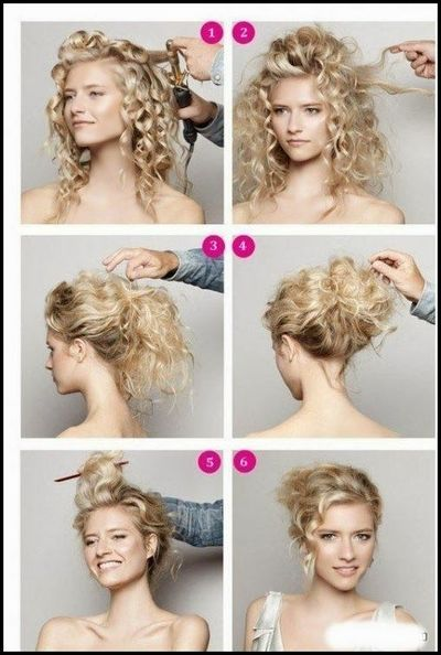 Simple Hairstyle Ideas For Curly Hair : How to do easy updos for long curly hair haircuts ha