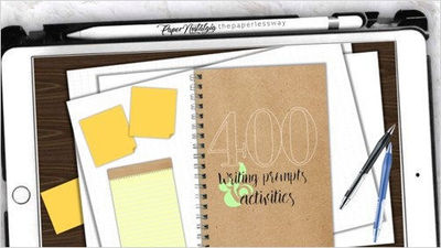 400 WRITING PROMPTS | Daily Writing Journal | Mindfulness Journal | Digital Notebook Goodnotes | PDF Instant Download $14.00