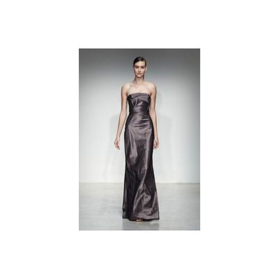 Simple A-line Strapless Ruching Floor-length Taffeta Evening Dresses - Dressesular.com