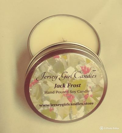 Hand Poured, Highly Scented Soy Candles 6 oz tin