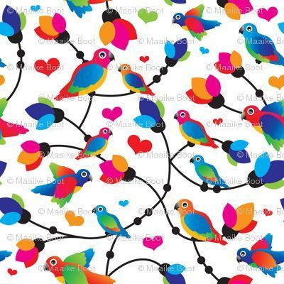 Parrot fabric | Spoonflower