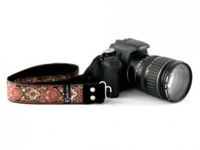"""Padded Camera Strap, Capturing Couture: 1.5""""� Camera Strap via The Grommet"""