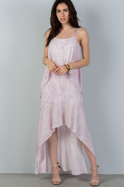 Ladies fashion mauve strappy-low back maxi dress $21.51