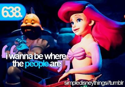 i wanna be where the people are