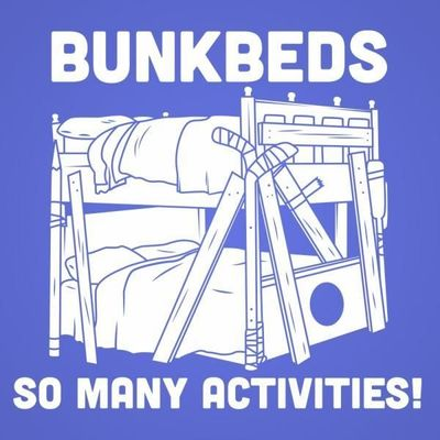 Who do you know who would love this? Bunkbeds So Many Activities Unisex Tri-Blend T-Shirt Handcrafted in the USA! $28.99